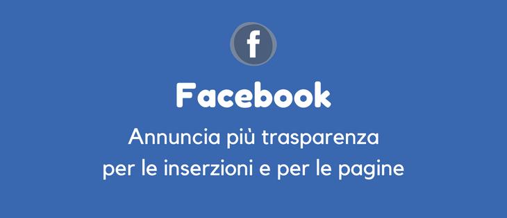 Facebook ci farà vedere gli annunci delle pagine.